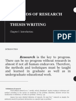 CHAPTER 1 METHODS OF RESEARCH