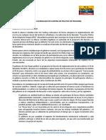 Comunicado Cacerolazo Contra El Fracking
