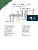 crossword puzzle theater