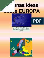 Algunas Ideas Sobre Europa...