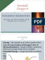 AP chemistry thermodynamics chapter 6 zimdhal