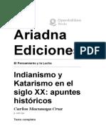 El Pensamiento y la Lucha - Indianismo y Katarismo en el siglo XX- apuntes históricos - Ariadna Ediciones