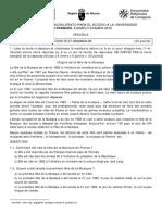 EBAU18 Francés - Ejemplo Examen