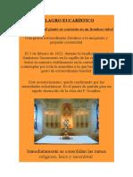 Nº 13.Milagro Eucariìstico