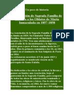 Nº 14.La Afiliacioìn de Sagrada Familia de Burdeos a Los Oblatos de Mariìa Inmaculada en 1857