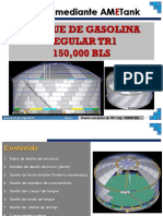 TANQUE DE ALMACENAMIENTO DE GASOLINA REGULAR 150000 B