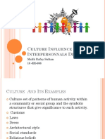 culture Influence On Interpersonal Dailoge