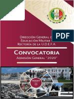 CONVOCATORIA SEDENA 2020