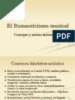 Romanticismo musical concepto y música instrumental