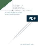 COMPARACIÓN DE LA LEGISLACIÓN NOTARIAL PERUANA A TRAVÉS DEL TIEMPO.docx