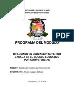Plan global Módulo Didáctica - UPEA Diplomado Semipresencial