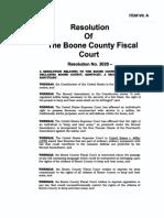 Boone Resolution