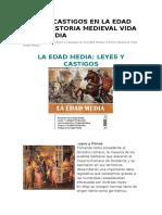 LEYES Y CASTIGOS EN LA EDAD MEDIA HISTORIA MEDIEVAL VIDA EDAD MEDIA