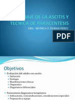ABORDAJE DE LA ASCITIS Y TECNICA DE PARACENTESIS
