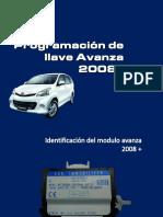 programacion de llave avanza 2008