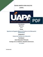TRABAJO FINAL FILOSOFIA DE LA EDUCACION