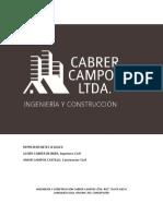 INGENIERÍA Y CONSTRUCCIÓN CABRER CAMPOS LTDA