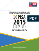 Programa Internacional para la Evaluación de los Estudiantes PISA 2015