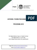 PROGRAMA 2019 Teoría Psicoanalítica