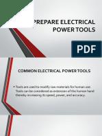 module 6 PREPARE ELECTRICAL POWER TOOLS