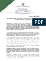 MB - COMUNICADO 33-XI - MENDES BOTA APELA À MOBILIZAÇÃO DOS HOMENS NO COMBATE À VIOLÊNCIA CONTRA AS MULHERES