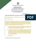 MB - COMUNICADO 1-XI - DEPUTADO MENDES BOTA VACINOU-SE CONTRA A GRIPE PANDÉMICA