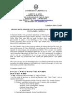 Mb - Comunicado 13-XI - Mendes Bota Orador Convidado Para Falar de Mota Pinto, Em Viana Do Castelo