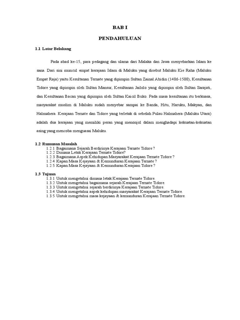 Makalah Kerajaan Ternate Dan Tidore Asuhankeperawatankesehatan Blogspot Com