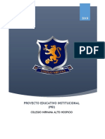 Proyecto Educativo Institucional Colegio Nirvana