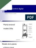 Controlador PID para planta torsional