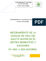 PROYECTO  PARA LA ATENCION  DEL ADULTO MAYOR - CORDOBA 2019