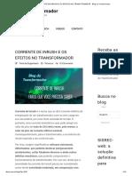 CORRENTE DE INRUSH E OS EFEITOS NO TRANSFORMADOR