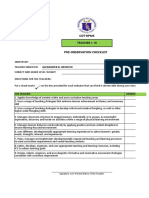 RPMS COT  Checklist