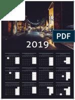 ejemplo calendario A3 mural castellano-2019