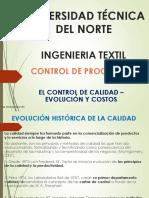 CLASE I - EL CONTROL DE  CALIDAD EVOLUC Y DEFINICIÓN