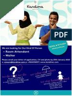 Job Ad - HK n Fnb