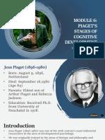 Module 6 Piaget's Cognitive Development.pptx