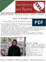 Peps Communique de Presse 29 Novembre 2010
