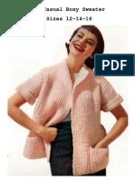 Knitting Casual Boxy Sweater