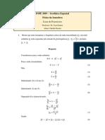 Exercícios Física da Ionosfera. Dr kantor