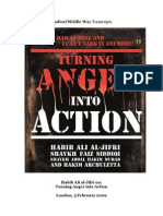 Turning Anger Into Action Habib Ali Al-Jifri
