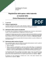 Regolamento indennità musicisti Civica Filarmonica di Lugano(V1.0S) - Segretato