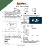ntse practice sheet