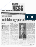 Manila Bulletin, Jan. 15, 2020, Taal Volcano eroption Initial damage placed at P7.6B.pdf