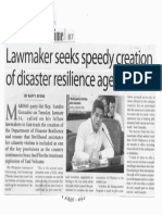 Manila Times, Jan. 15, 2020, Lawmaker seeks speedy creation of disaster resilience agency.pdf