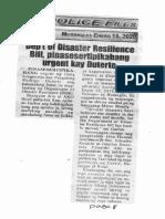 Police Files, Jan. 15, 2020, Dept of Disaster Resilience Bill pinasesrtipikahang urgent kay Duterte.pdf