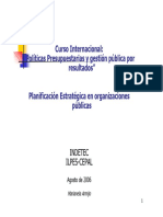 Planificacion estratégica organizaciones publicas