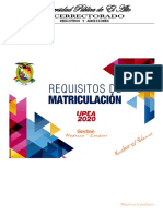 Requistos de Matriculacion 2020