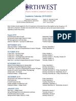 Revised 2019-2020 Academic Calendar