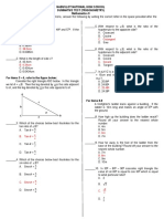 Math 9 summative Test-Trigonometry